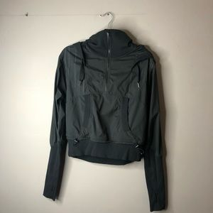 Lululemon half zip hooded jacket black pullover 8